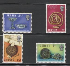 Jersey Sc 77-80 Jersey Society 100 yrs stamps NH