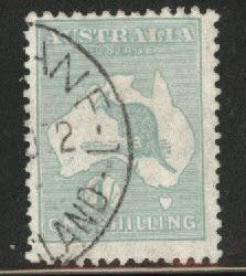 Australia Scott 98 Used Kangaroo & Map 1929-30