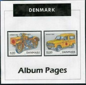 Denmark - CD-Rom Stamp Album 1851-2019 Color Illustrated Album Pages