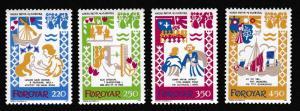Faroe Is. The Ballad of Harra Paetur and Elinborg 4v SG#74-77 SC#86-89