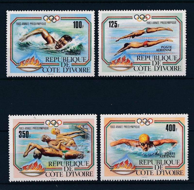 [46605] Ivory Coast 1983 Olympic games Los Angeles Swimming MNH
