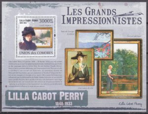 2009 Comoros Islands 2617/B556 Painting / Lilla Cabot Perry 15,00 €