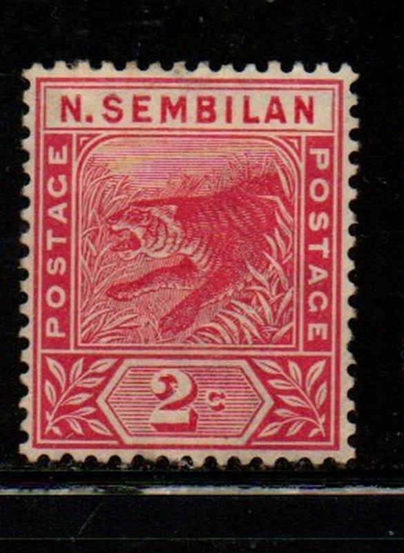 Malaya Negri Sembilan Sc 3 1891 2 c rose Tiger stamp mint