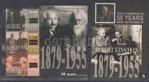 Lesotho stamp Death Anniversary of Einstein minisheet+block 2005 MNH WS216233