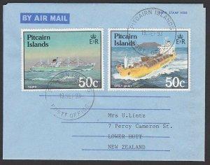 PITCAIRN 1993 Formular aerogramme used to New Zealand.......................K831