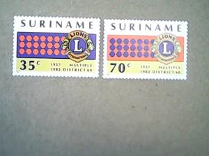 1982 Suriname #596, #597 MNH  Set of two