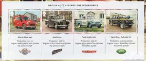 Great Britain Sc 3218 2013 Famous British Autos stamp sheet mint NH