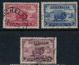 Australia #147-9  CV $71.00  (#149 short perf)