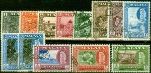 Kelantan 1957-61 Set of 13 SG83-94 Very Fine Used