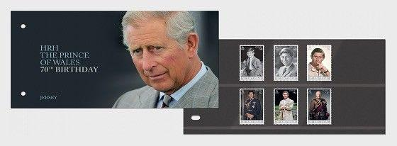 H01 Guernsey 2018 HRH The Prince of Wales 70th Birthday  PP Set MNH Postfrisch