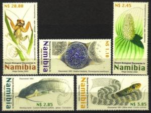 Namibia - 2003 New Biological Discoveries Set MNH** SG 936-940