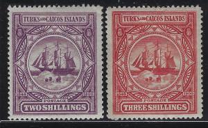 Turks & Caicos 1900 Dependency's Badge set Sc# 1-9 mint
