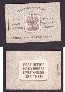 Canada-Sc#BK29b - id2-booklet-2c brown KGVI mufti,2 panes of 6,well centered-NH-
