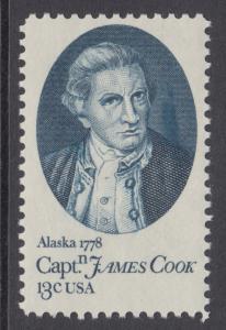 US Sc 1732 MNH. 1978 13c Capt. Cook, ink smear in vignette