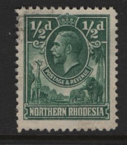 NORTHERN RHODESIA 1 USED KING GEORGE 1925
