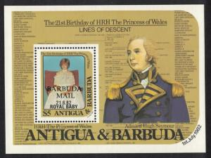 Barbuda Birth of Prince William of Wales 2nd issue MS SG#MS635