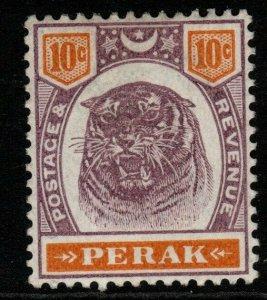 MALAYA PERAK SG72 1895 10c DULL PURPLE & ORANGE MTD MINT