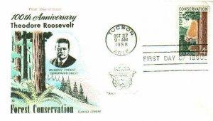FLUEGEL 1122 Forest Conservation Teddy Roosevelt Smokey Bear Cancel