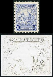 Barbados SG233 2 1/2d Blue Major re-entry M/M