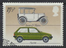 Great Britain  SG 1198 SC# 1002 Used / FU with First Day Cancel-  Motor Cars