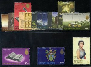 Pitcairn Islands 1969-75 QEII Definitives set complete VF used. SG 94-106b.