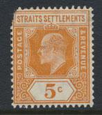 Straits Settlements Edward VII SG 157  spacefiller Mint Hinged