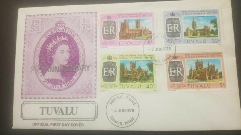 O) 1978 TUVALU, CORONATION OF ELIZABETH II -HERITAGE-ARCHITECTURE-CATHEDRAL- CAN