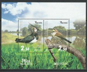 Bosnia and Herzegovina 2019 CEPT Europa Birds MNH Block