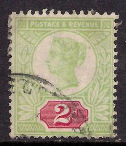 GB 1887 - 92 QV 2d Jubilee Used Stamp SG 200 ( G507 )