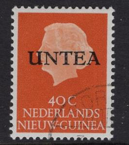 Netherlands West New Guinea UNTEA  #12 UN temporary authority 1962 cancelled 40c