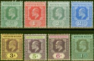 Northern Nigeria 1910-11 Set of 8 to 1s SG28-36 Fine Mtd Mint