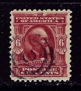U S 304 Used 1903 issue nibbed corner perfs