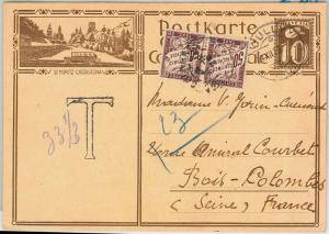 56656 - AUTOMOTIVE - SWITZERLAND - POSTAL HISTORY: STATIONERY CARD 1929 - Taxed!