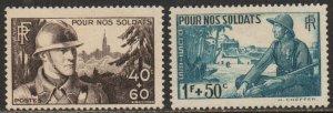 France Sc #B94-B95 Mint Hinged; Mi #464-465