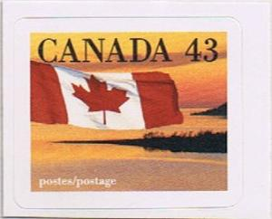 Canada Mint VF-NH #1389 Flag over Shoreline