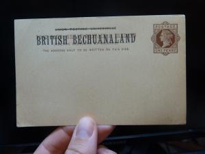 Bechuanaland QV 1d PSC unused (7bej)