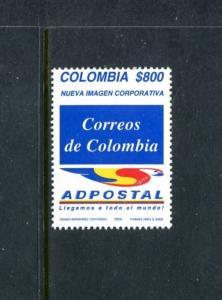 Colombia 1186, MNH, New Emblem of Adpostal 2002. x23516