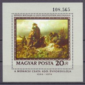 Hungary. 1976. bl120. Painting. MNH.