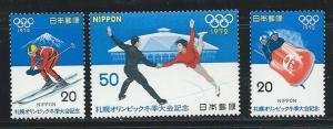Japan 1103-5 1972 Winter Olympics set MNH