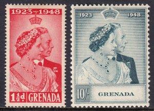 Grenada - Scott #145-146 - MH - Gum toning - SCV $20.25