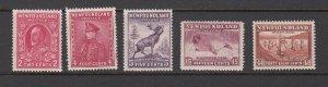 NEWFOUNDLAND ( CANADA)  SC#  185,189, 191, 195, 199 MH