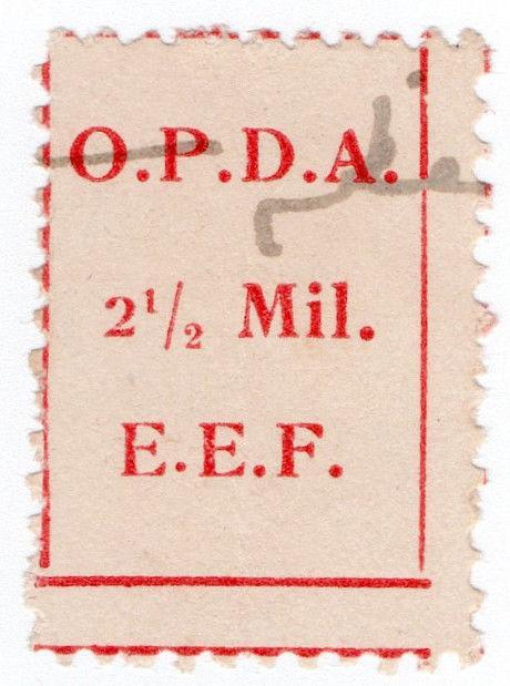 (I.B) Palestine Revenue : Ottoman Public Debt 2½m (OPDA) inverted watermark