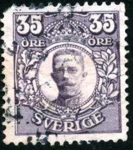 SWEDEN - SC #87 - used - 1911 - Item SWEDEN018