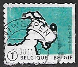 Belgium # 2693 - Snowy - used  -(BRN8)