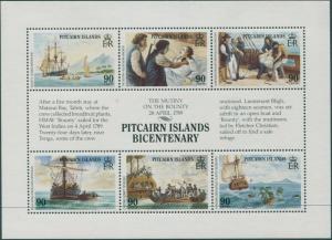 Pitcairn Islands 1989 SG341a Bounty sheetlet MNH
