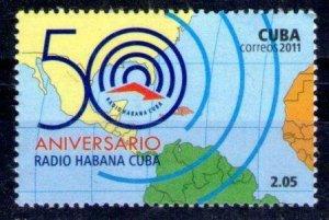 Cub2011 50th Anniversary of Radio Havana 1v MNH