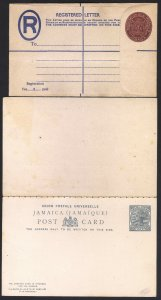 Jamaica 1880's Postal Stationary Collection 8 Cards/Envelopes Unused