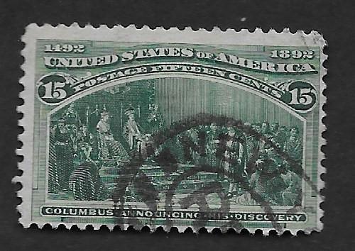 U.S. Vintage Stamps SC#238 F Used CV$70