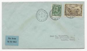 Canada Scott #C1 #163 on Cover August 3, 1932 Air Mail to Toledo, Ohio