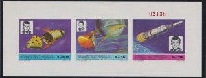 Paraguay # 1126-1128, John F. Kennedy, Space, NH,